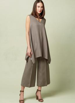 V1550 for cropped wide leg pants